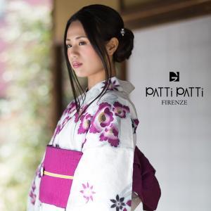 PATTi PATTi 浴衣セット「白色 蔦と花」