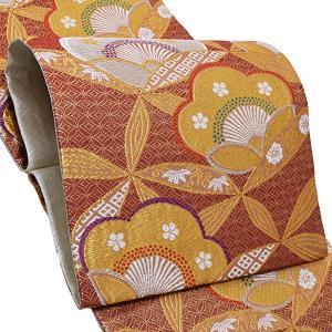 振袖 袋帯「臙脂色 梅」お仕立て上がり 正絹帯