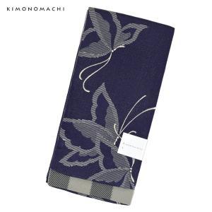 京都きもの町オリジナルの浴衣帯(半幅帯)です。程よい柔らかさで結びやすい帯です。古典柄のような蝶の模...