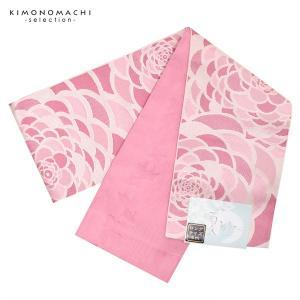小袋 半幅帯「ピンク ダリア」 浴衣帯 半巾帯 小袋帯|kimonomachi