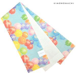 麻 半幅帯「水風船」 浴衣帯