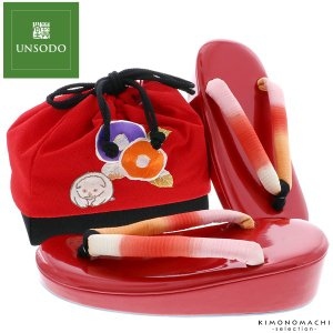 七五三 草履バッグセット「赤色