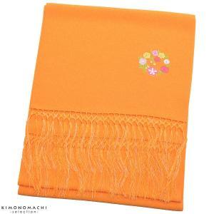 七五三 しごき「オレンジ色 花