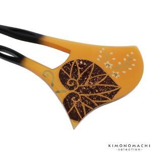 銀杏型 かんざし「べっ甲調 葵」