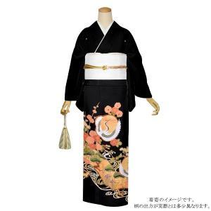 お仕立て上がり 黒留袖単品「観世水、梅に鶴」 紋入れ代込み 正絹着物 留袖|kimonomachi