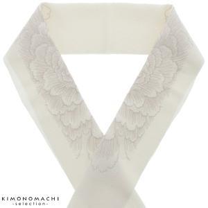 刺繍半衿「生成り 牡丹」半襟