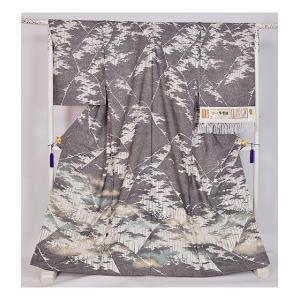 本場牛首紬 特選逸品訪問着|kimonotanaka