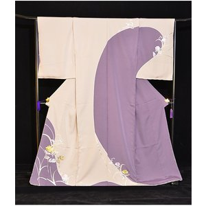 蘇州刺繍染め分け特選訪問着 紫ベージュ|kimonotanaka