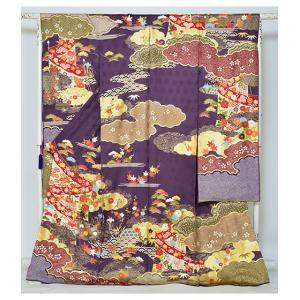 染の名門【青柳】最高級逸品振袖・紫地古典柄|kimonotanaka