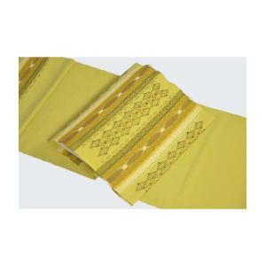 南風原「花織」九寸名古屋帯・黄緑色 kimonotanaka