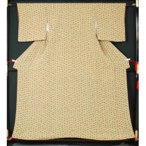 小紋 豆柿模様 送料無料 リサイクル着物    アンティーク着物  きもの天陽|kimonotenyou