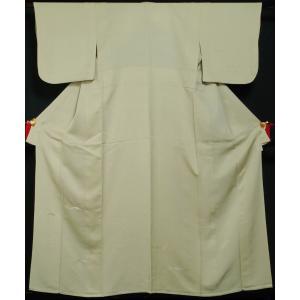 単衣 着物 訪問着 筋斗雲模様 若根笹紋 若菜色 刺繍 フォーマル 付下げ 6月 9月 着物 送料無料 中古 リサイクル 訪問着 リサイクル着物 仕立て上がり 正絹 kimonotenyou