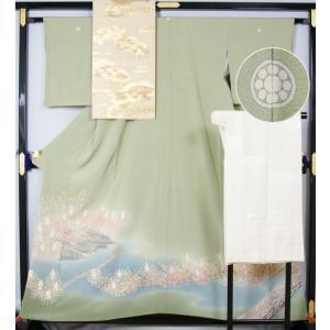 本加賀友禅 杉浦伸作 色留袖と綴れ袋帯、長襦袢のセット 送料無料  リサイクル着物 アンティーク着物|kimonotenyou