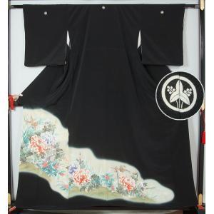 黒留袖 花鳥模様 送料無料  リサイクル着物 アンティーク着物 の専門店|kimonotenyou