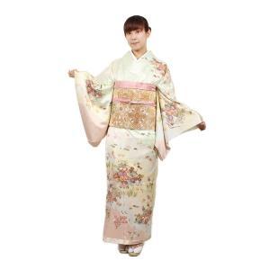 正絹お誂え仕立て付 訪問着・袋帯 2点セット LL寸対応|kimonowashou