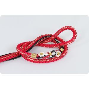 振袖用 正絹帯〆 | 赤/黒|kimonowashou