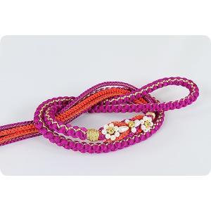 振袖用 正絹帯〆 | チェリー/赤|kimonowashou