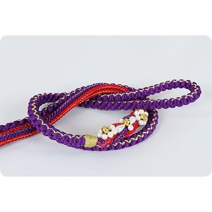 振袖用 正絹帯〆   紫/赤 kimonowashou