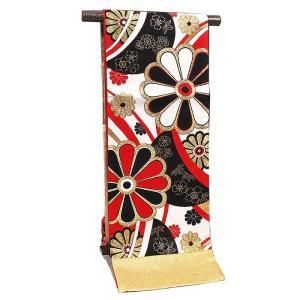 袋帯 振袖用 正絹 西陣織【大光謹製 赤 四季花】|kimonowashou