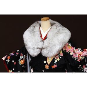 ブルーフォックス毛皮ショール【差額28,000円】|kimonowashou