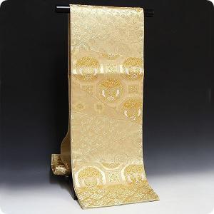正絹西陣袋帯 金彩正倉院 浅田叡一織物 双鳳凰唐草文様 長尺可能|kimonowashou