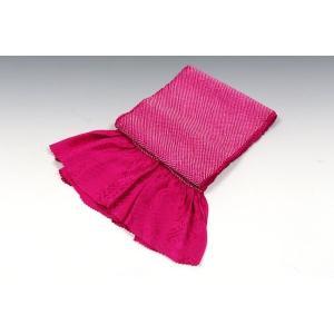 正絹総絞り帯揚げ | 赤紫|kimonowashou