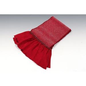 正絹総絞り帯揚げ | 暗赤|kimonowashou