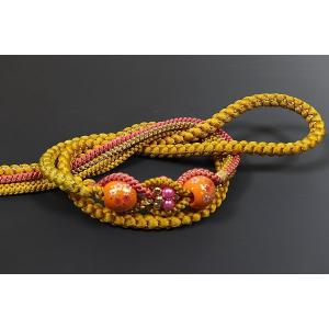 正絹帯〆  からし色・大飾り 振袖フルセット購入の場合+3,000円の差額|kimonowashou