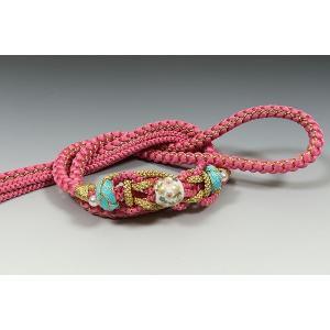 正絹帯〆 ピンク色・大飾り  差額3,000円|kimonowashou