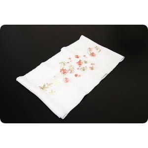 刺繍半襟 | 白|kimonowashou