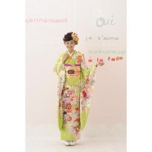 振袖セット 成人式 お誂え仕立付 正絹京友禅振袖フルセット  Bijou B163|kimonowashou