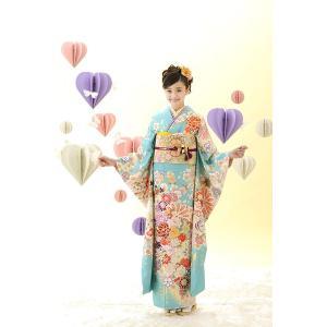 振袖セット 成人式 お誂え仕立付 正絹京友禅振袖フルセット  COCON CB141|kimonowashou