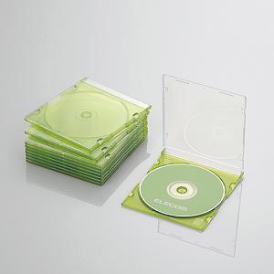 CCD-JSCS10CGN ELECOM エレコム Blu-ray/DVD/CDケース(スリム/PS/1枚収納) CCDJSCS10CGN|kimuraya-select