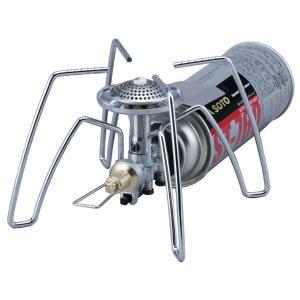 新開発「マイクロレギュレーター」を搭載した「次世代型シングルバーナーST-310」。連続使用時や低温...