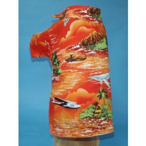 NP-17-O 犬服 /オリジナル / アロハシャツ / ハワイで購入した生地使用 【ハンドメイド】小型犬/ヨーキー・ミニチュアダックス・ミニチュアピンシャー|kinako-mitsumame