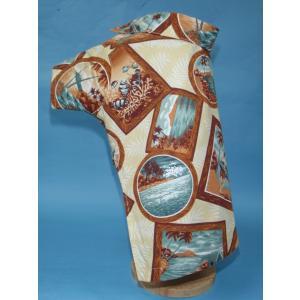 TG-11-BR 犬服 /オリジナル / アロハシャツ / ハワイで購入した生地使用 【ハンドメイド】小型犬/ヨーキー・ミニチュアダックス・ミニチュアピンシャー|kinako-mitsumame
