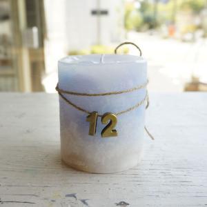 kinariオリジナル誕生石カラーキャンドル(BOX付き) 12月 タンザナイト|kinaricandle