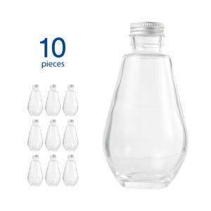 ハーバリウム瓶 オーバル218ml フタ付き 10個セット