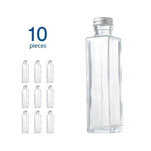 ハーバリウム瓶 スクエア164ml フタ付き 10個セット|kinaricandle