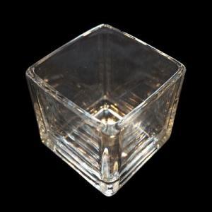 キャンドル用ガラス容器 【キューブ】スクエアM (フィルム付)|kinaricandle