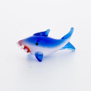 ガラス細工 サメ  【 ミニチュアサイズ 装飾 オブジェ 置物 ジェルキャンドル材料 】|kinaricandle