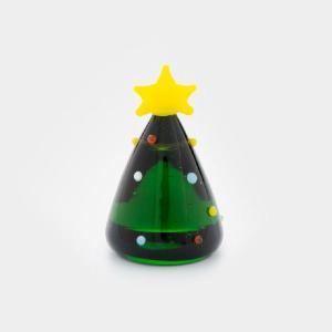 ガラス細工 ツリー  【 ミニチュアサイズ 装飾 オブジェ 置物 ジェルキャンドル材料 】