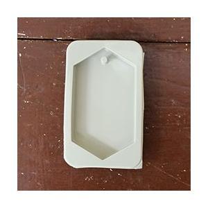 【シリコン型】ワックスサシェ制作用モールド ヘキサゴン 六角形 6個(1シート) kinaricandle