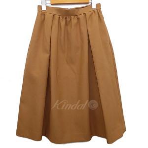 SACRA タックギャザースカート ベージュ サイズ:36 (明石店) 180420|kindal