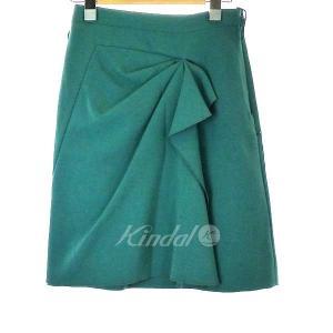 【6月21日値下】N21 リボンモチーフスカート グリーン サイズ:38 (京都店)|kindal