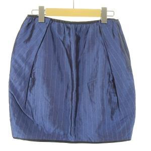 DRAWER ピンストライプスカート ブルー サイズ:36 (EC) 190401|kindal