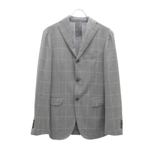 Ring Jacket チェック柄 セットアップスーツ グレー サイズ:- (堅田店) 190607 kindal