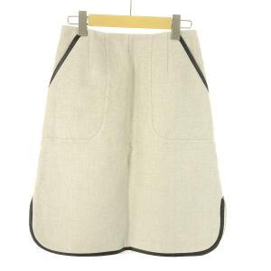【2月4日値下】 DRESSTERIOR パイピングリネンスカート サイズ:38 (EC)|kindal