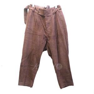 BED J.W FORD シンチバック ウール混パンツ バーガンディー サイズ:0 (新宿店) 171102|kindal