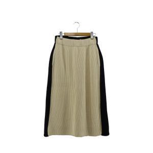 HYKE リブコンビニットスカート ブラック×ホワイト サイズ:2 (難波店) 190818|kindal